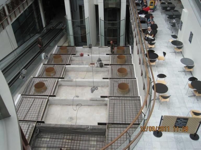 Fisketorvet vandfald opbygning